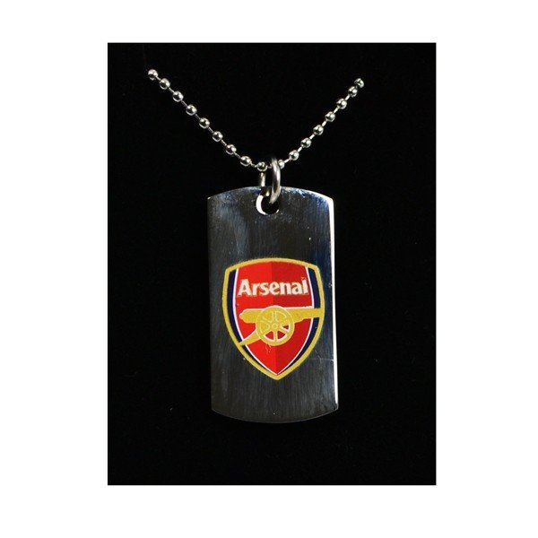 Arsenal Colour Crest Dog Tag & Chain