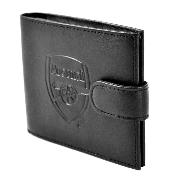 Arsenal Crest Embossed Leather Wallet