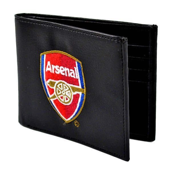 Arsenal Crest Embroidered PU Leather Wallet
