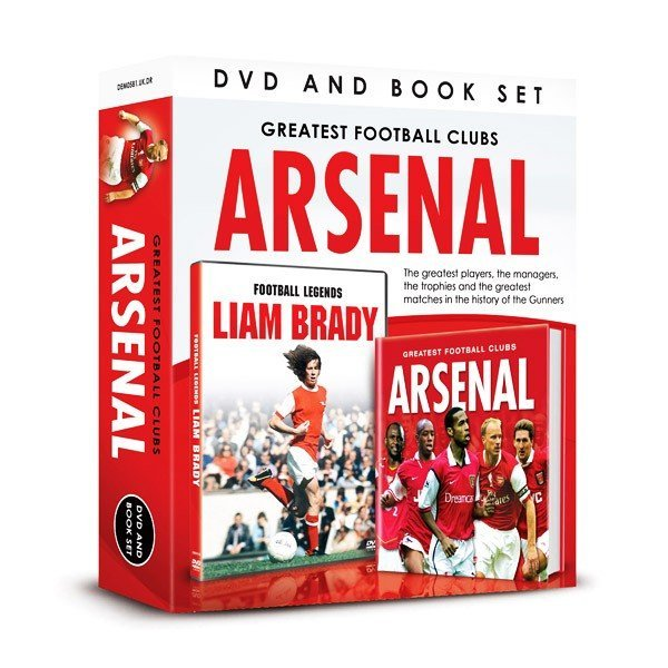 Arsenal Football Legends Liam Brady DVD And Book Set