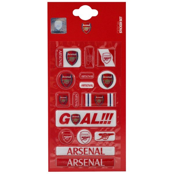 Arsenal Fun Bubble Sticker Set