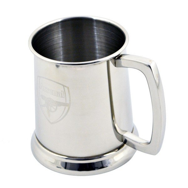Arsenal Glass Base Stainless Steel Tankard