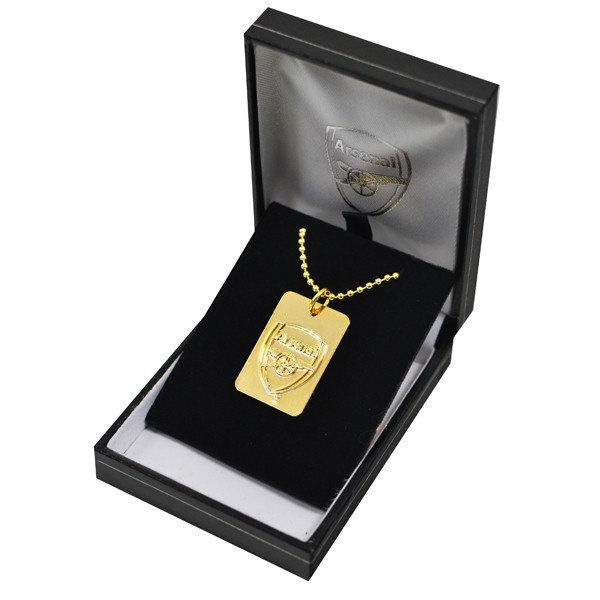 Arsenal Gold Plated Dog Tag and Chain