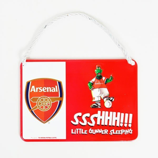 Arsenal Mascot Bedroom Sign