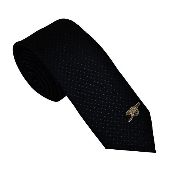 Arsenal Neck Tie Grey Dots