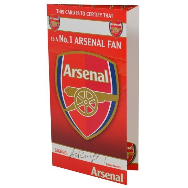 Arsenal No1 Fan Birthday Card - 6PK