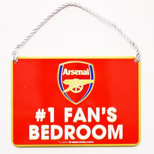 Arsenal No 1 Fan Bedroom Sign