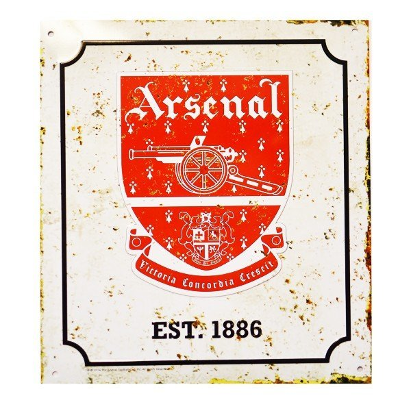 Arsenal Retro Logo Sign