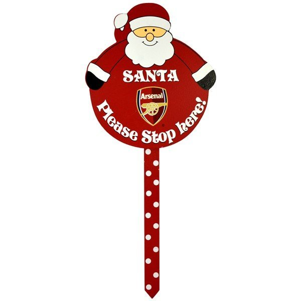 Arsenal Santa Stop Garden Sign