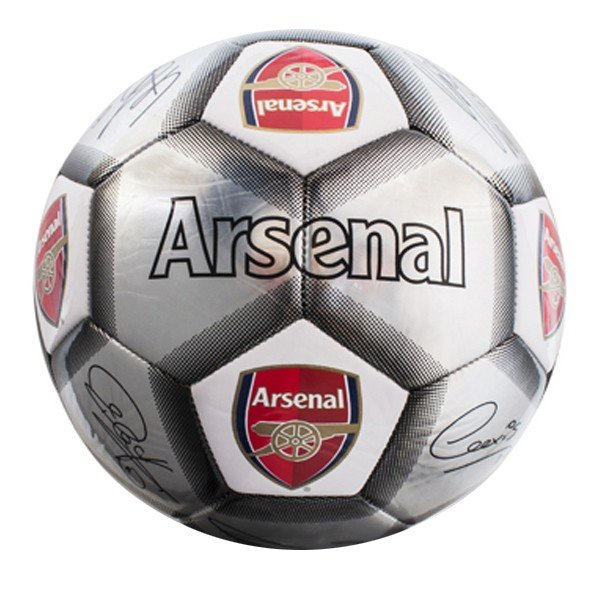Arsenal Silver Signature Football - Size 5