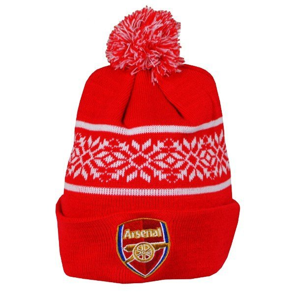 Arsenal Snowflake Cuff Knitted Hat