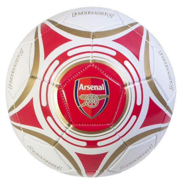 Arsenal White Star Football - Size 5