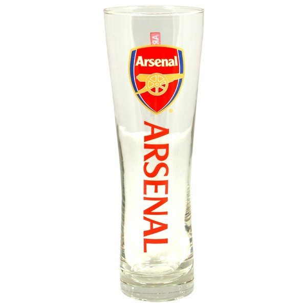 Arsenal Wordmark Crest Peroni Pint Glass