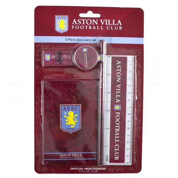 Aston Villa 5PC Stationery Set