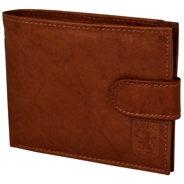 Aston Villa Crest Embossed Leather Wallet