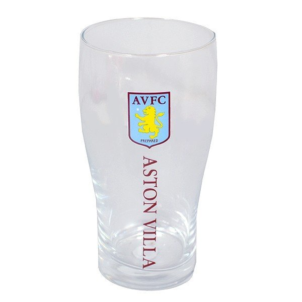 Aston Villa Crest Pint Glass