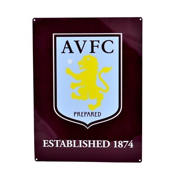 Aston Villa Large Crest Established Sign