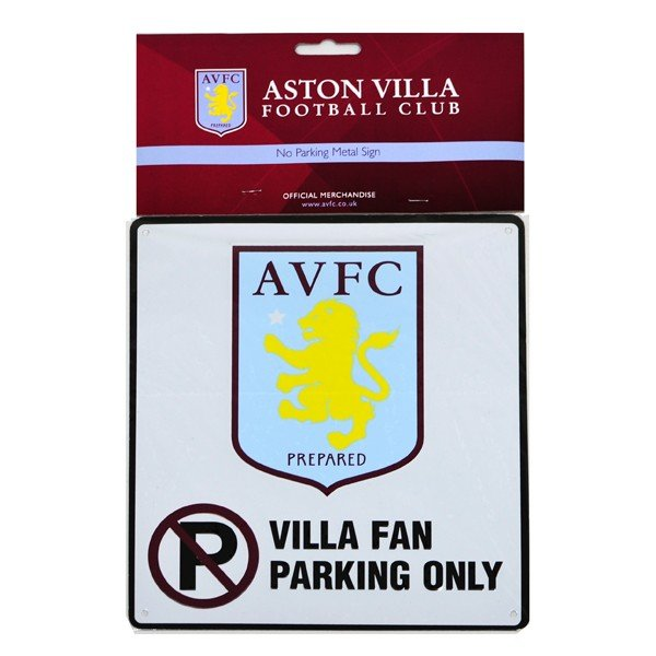 Aston Villa No Parking Sign