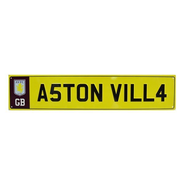 Aston Villa Number Plate Sign