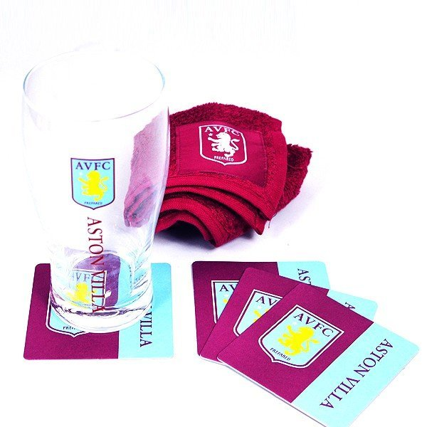 Aston Villa Wordmark Mini Bar Set