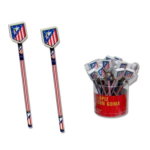 Atletico De Madrid Pencil With Eraser Topper -36PK