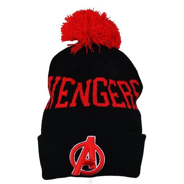 Avengers Text Bobble Cuff Knitted Hat - Adult