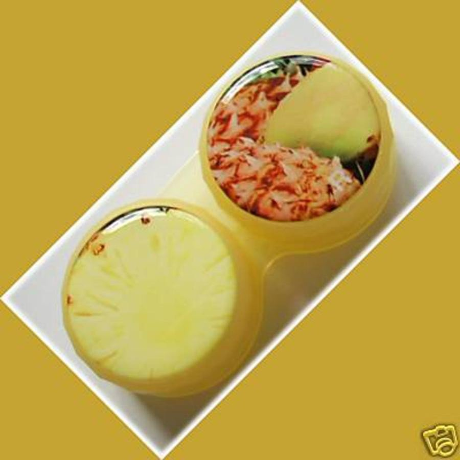 Pineapple Summer Fruits Contact Lens Holder For Lenses