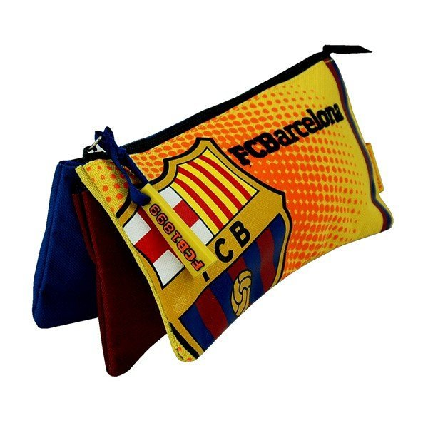 Barcelona 3 Slots Flat Pencil Case