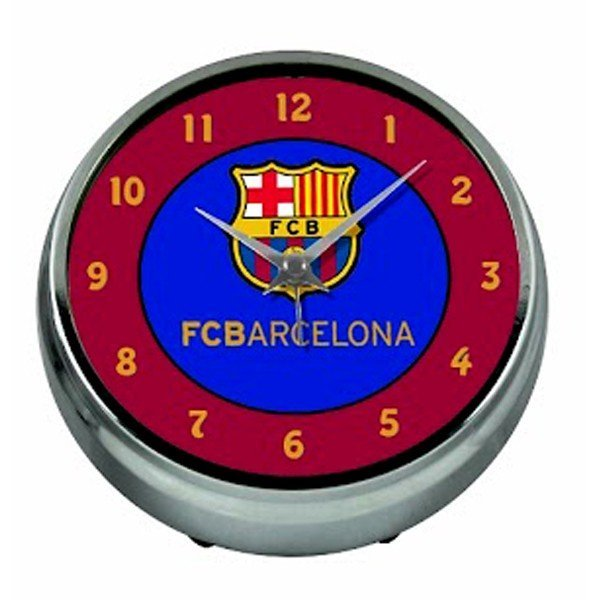 Barcelona Aluminium Table Clock - Burgundy