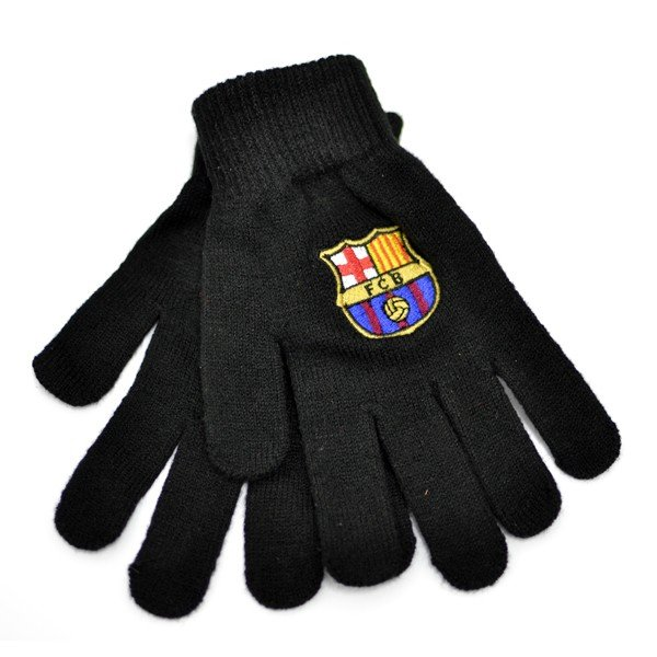 Barcelona Black Knitted Gloves