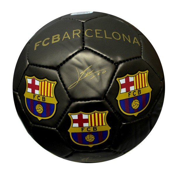 Barcelona Black Signature Football - Size 2