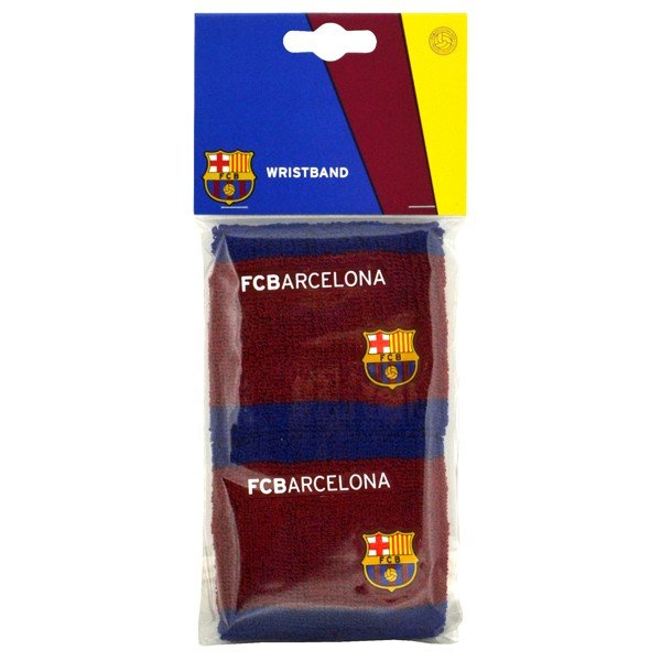 Barcelona Blue/Burgundy Wristbands -2PK