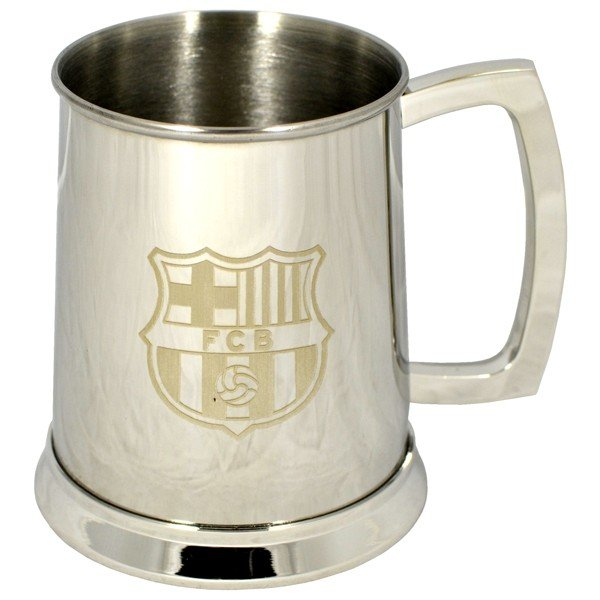 Barcelona Crest Printed Chrome Tankard