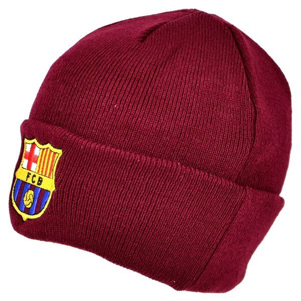 Barcelona Cuff Knitted Hat - Burgundy