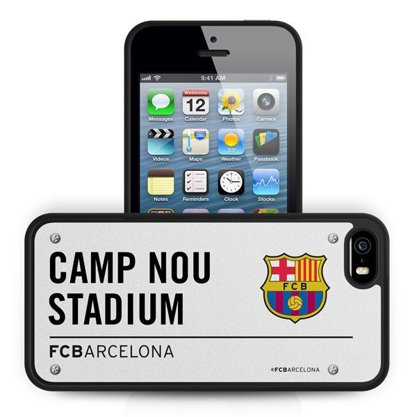 Barcelona iPhone 5/5S 3D Hard Phone Case- Street Sign