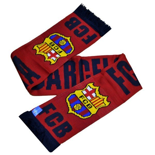 Barcelona Named Scarf - Burgundy