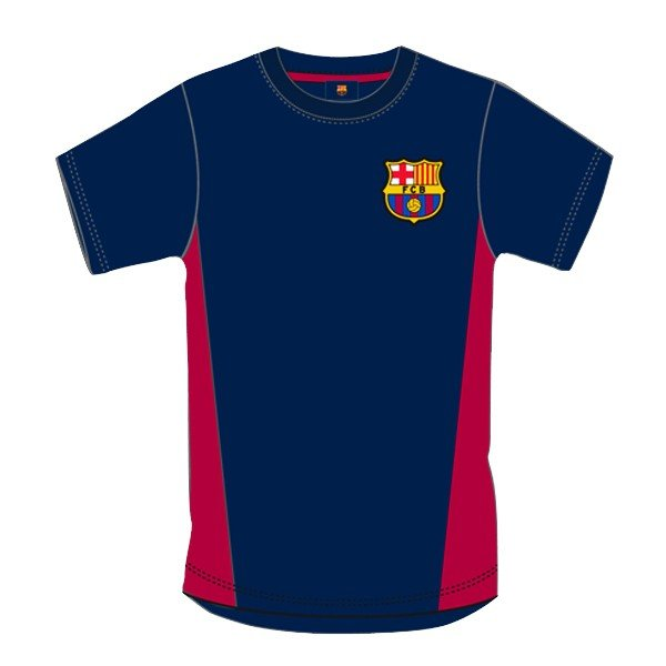 Barcelona Navy Crest Mens T-Shirt - L