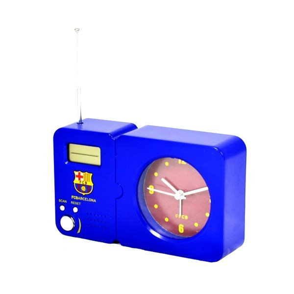 Barcelona Radio With Clock - Blue