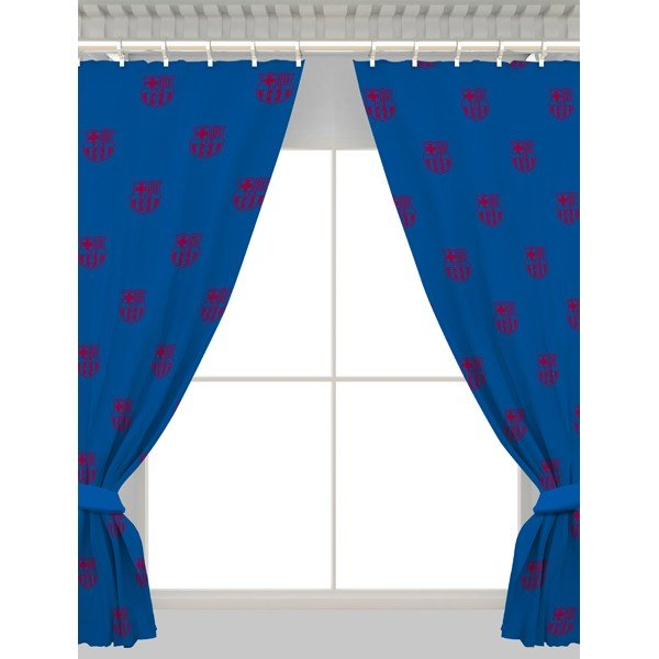 Barcelona Repeat Crest Curtains - 54 Inch