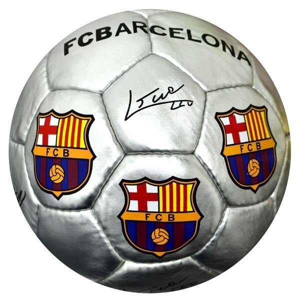 Barcelona Silver Signature Football - Size 5