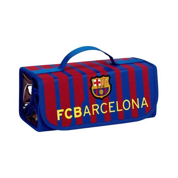 Barcelona Stripe Pull Down Pencil Case - 50PCS