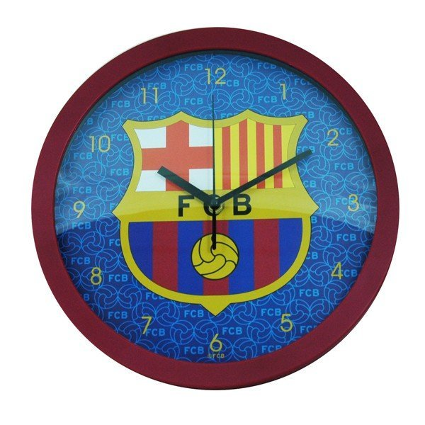 Barcelona Wall Clock - Burgundy