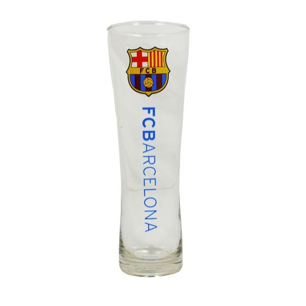 Barcelona Wordmark Crest Peroni Pint Glass