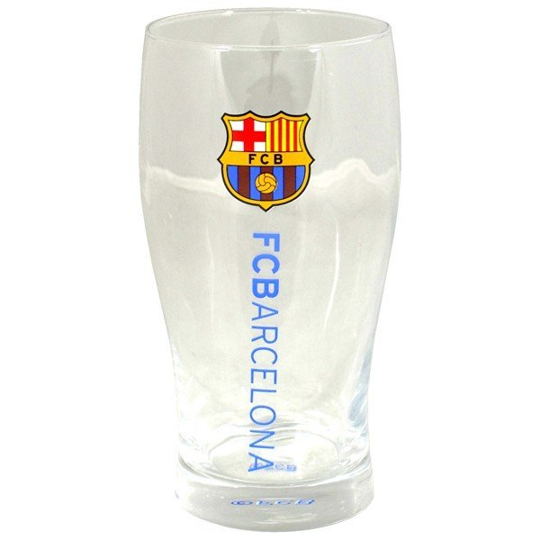 Barcelona Wordmark Crest Pint Glass