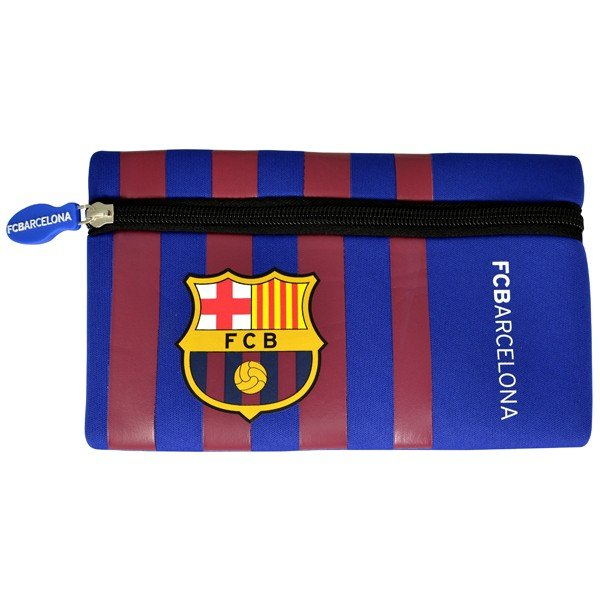 Barcelona Wordmark Flat Pencil Case