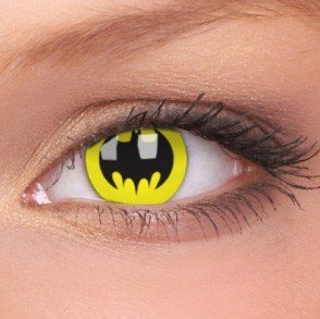 Bat Crusader Crazy Colour Contact Lenses (1 Year Wear)