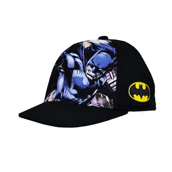 Batman Front Snap Back Cap Black - Junior
