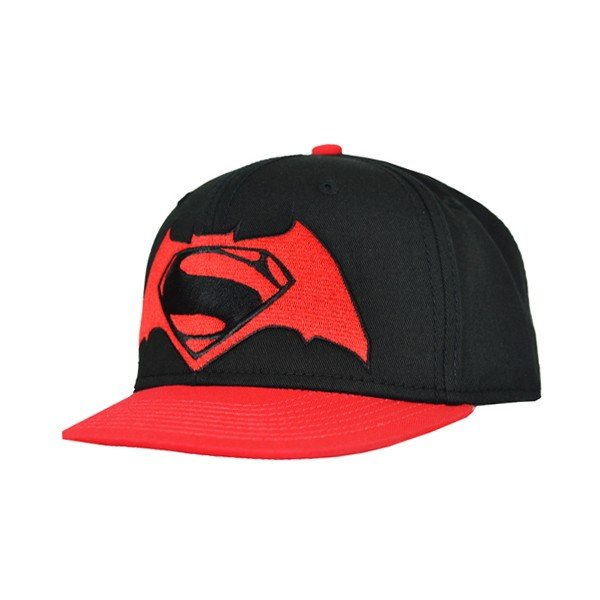 Batman Vs Superman Contrast Snap Back Cap Black - Adult