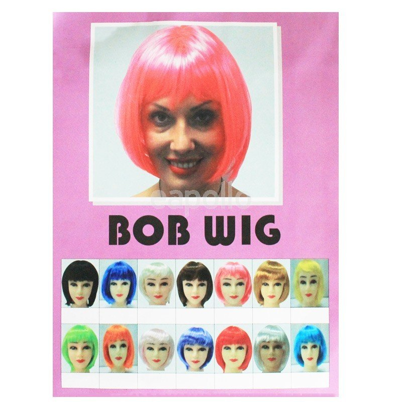 Funky Ladies Bob Style Wig In One Size Various Colours