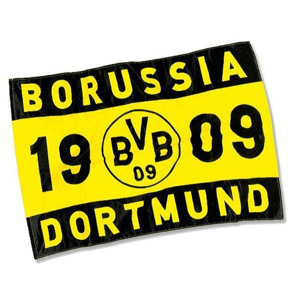 Borussia Dortmund Flag - On Stick